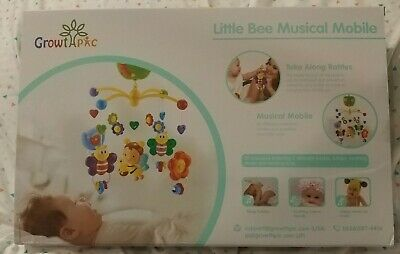 GrowthPic Little Bee Musical Mobile for Crib w/Hanging Rotating Toys Music