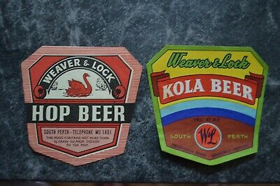 2 Old Weaver & Lock South Perth Drink Labels