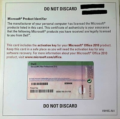*GENUINE* Microsoft Office Professional 2010