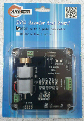 DCC Decoder Test Board for Model Trains with 5 pole can motor