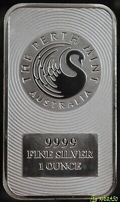 Perth Mint 1 oz Kangaroo Bullion Bar, 99.99% Fine Silver. #MINA