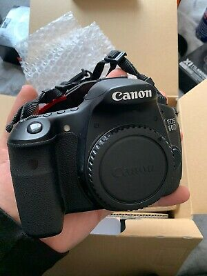 Canon EOS 60D BODY ONLY Digital - Black, with Charger, Strap And 3 Batteries