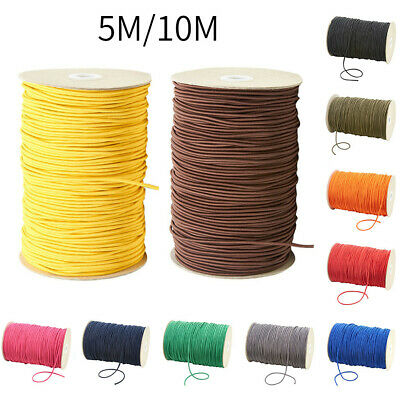 3mm THIN FINE ROUND ELASTIC STRETCH BUNGEE SHOCK CORD 11 COLOURS length 10M 998