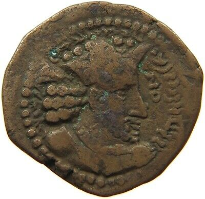 SASSANIAN EMPIRE / HUNNIC TRIBES  AE  19MM #t125 101