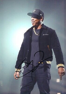 "Jay-Z Hand Signed 8x12"" Photo COA Hip Hop Rap Autograph Rapper Shawn Carter Rare"