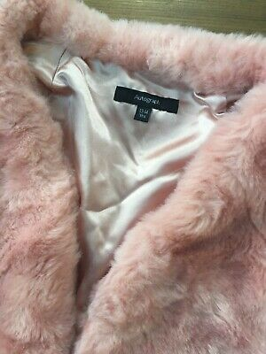 girls autograph / marks & Spencer party fake fur pink shrug age 13-14 years