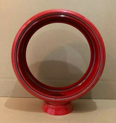 Gas Pump Globe Body Metal Light Lens Service Station Garage Oil Red 13 1/2""