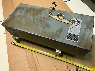 Westinghouse TAP 323 fusible bus busway switch plug in unit 240 VAC 100A 3 PH 3W