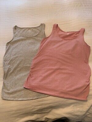 H&M Materity Vests (2) Pink & Grey - Size Large