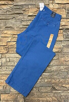 J Crew Mens The Sutton Pants Size 31x32 Stretch Slim Fit Chino Blue NWT $64.50
