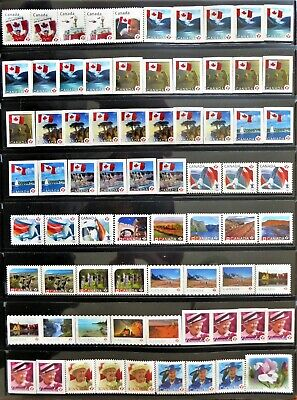 73 uncancelled Canadian 'P' domestic postage stamps, no gum