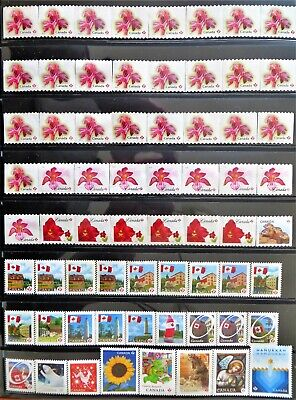 66 uncancelled Canadian 'P' domestic postage stamps, no gum