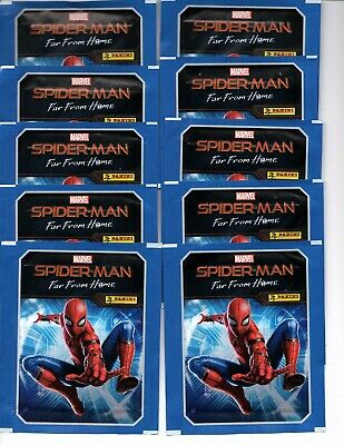 Panini  Spiderman Far From Home 10 Unopened Sticker Packets