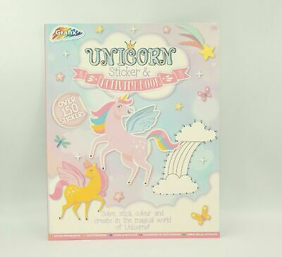 Unicorn Colouring & Sticker Book Activity Books Childrens Games Kids Drawing Set