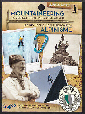 CANADA BOOKLET #BK332 51c PANE/8, 2006 MOUNTAINEERING, VF, MINT