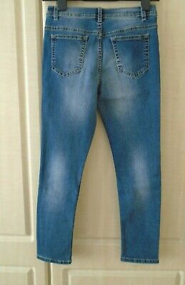 Denim & Co Boys  Skinny Denim Jeans Age 11 -12 Years Adj Waist Worn Once