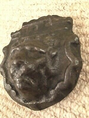 Unusual Iron Or Bronze Cast Lion Head Possibly Taken From A 17th Spanish Cannon