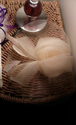 Fascinator Cream Sinamay Bow & Feather Detail Hair Comb