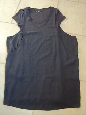 Marks & Spencer (M&S) Autograph Grey Double Layer Dress, Size 12