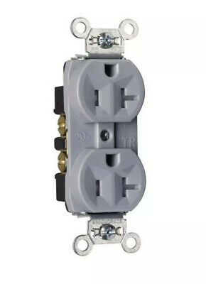 New Lot Of 10 Pass & Seymour Tr5362-Gry 20A / 125V Gray Duplex Receptacles
