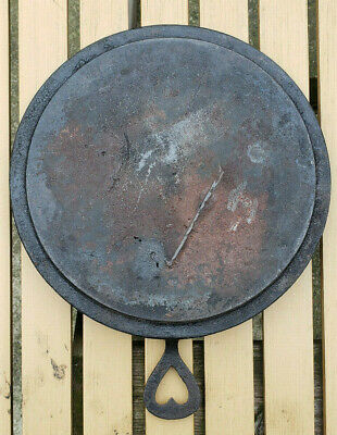 Antique Gate Mark Heart Handle Cast Iron Skillet Griddle Pan Civil War Vtg Rare