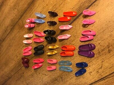 Lot of 20 Pair Barbie Shoes - Slippers, Flats, Sports, Heels, Sandals, Ballet