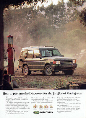 1994 Land Rover Discovery: Jungles of Madagascar Vintage Print Ad