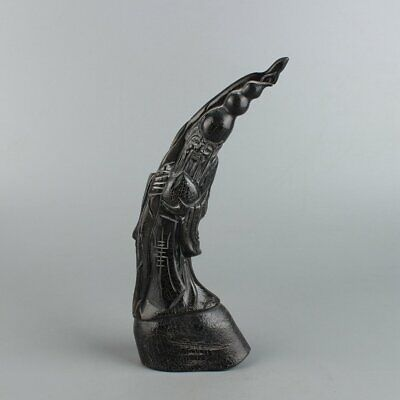 Chinese Exquisite Hand carved OX horns statue