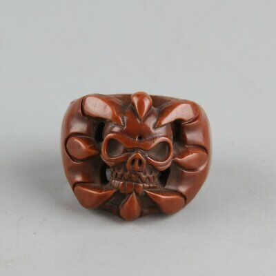 Chinese Exquisite Handmade Olive nuclear Ring