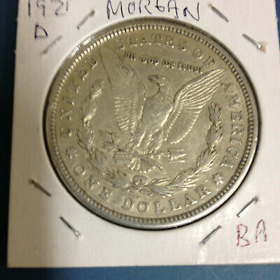 1921d U.S.A. Morgan Silver Dollar. Denver Mint  No Reserve FREE S&H