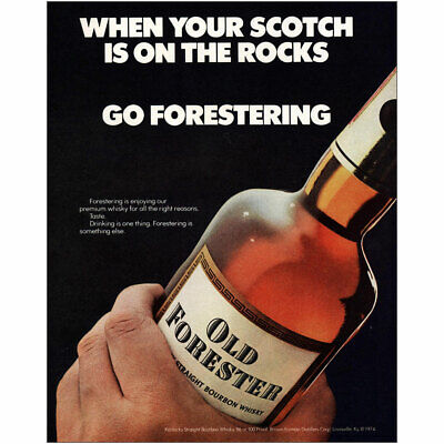 1975 Old Forester: When Your Scotch Is On the Rocks Vintage Print Ad