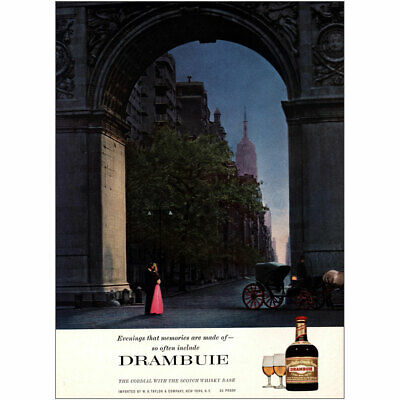 1967 Drambuie: Evenings That Memories Are Made Of Vintage Print Ad