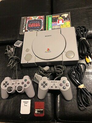Working Sony PlayStation PS1 Console System 2 Controllers Games Bundle SCPH-5501
