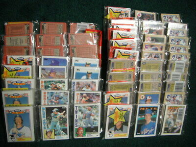 1986 1987 Topps Unopened 15 Rack Pack Lot Cal Ripken ++ Baseball Card Showing