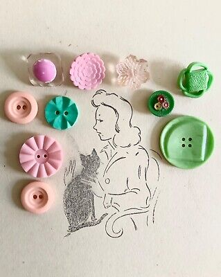 Lot of french vintage buttons bakelite glass plastic