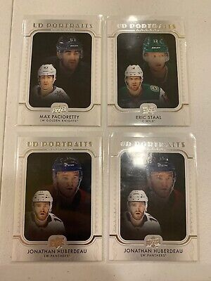 2019-20 Upper Deck Series 1 Hockey - (4) Card UD Portraits Rookies Lot (Hughes)