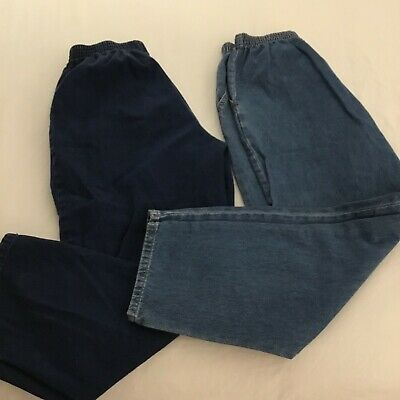 CHIC Lot of 2 Women's 12P Elastic Waist Pull On Jeans With Pockets