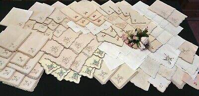Vintage Napkins & Serviettes Bulk Collection of Over 80 Set 1