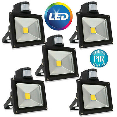 LED Floodlight PIR Sensor Motion 100W Outdoor Security Wall Working Flood Light