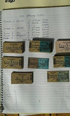 old V/R Railway tickets