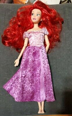 DISNEY PARKS EXCLUSIVE THE LITTLE MERMAID ARIEL DOLL In a Purple Gown 12""