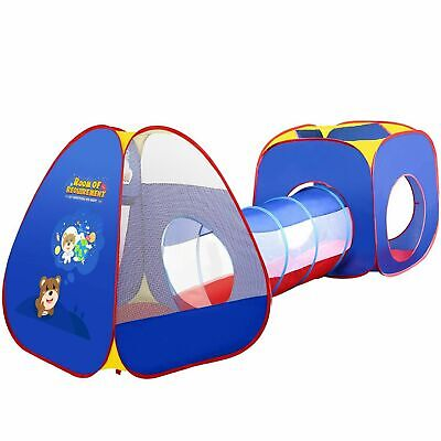 Portable 3 in 1 Childrens Kids Baby Play Tent Tunnel Ball Pit Playhouse Pop Up k