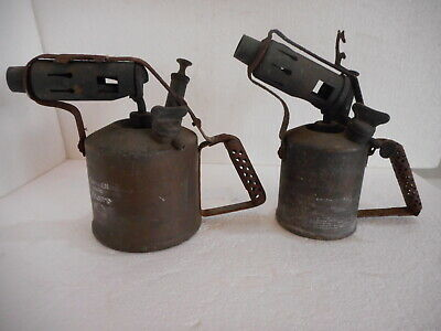2 X VINTAGE BLOW TORCH PLUMBERS TORCH 1 X PRIMUS No. 632. 1 X COMPANION MAN CAVE