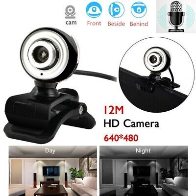 USB 2.0 12M HD Webcam Click-on Web Cam Camera For Computer PC Laptop Desktop AU
