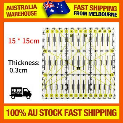 DIY Acrylic Sewing Rulers Measure Quilting Tool Square Ruler Cutting Rule NEW AU