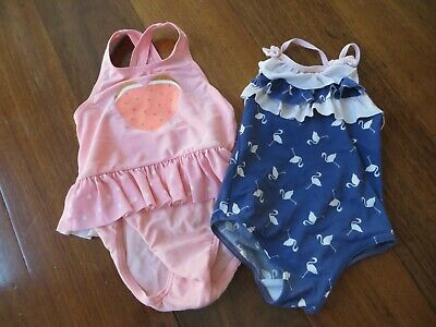 Seed girl's bathers size 12 - 18 months (2 pairs)
