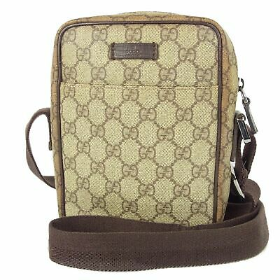 Sale! Auth GUCCI GG Canvas Leather Mini Shoulder Bag Italy F/S 11234bkac