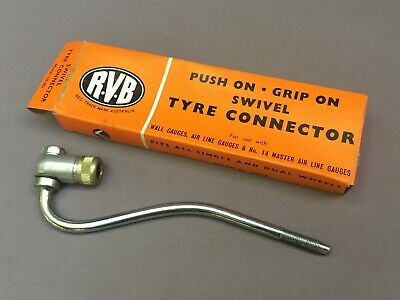 Vintage RVB 'Swivel Tyre Connector' New Old Stock-Wall, Air Line Gauge, Air Hose