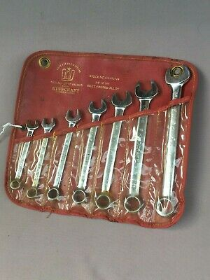 Vintage KINGCRAFT Combination SPANNER Set, Open, Ring, No. CS-120724 -Roll Pouch