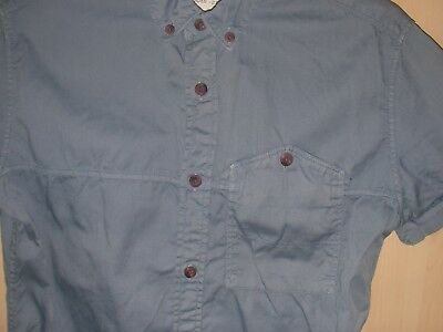 Boys/Teens/Men's Blue Cotton Shirt Size Xs Denim73 Matalan